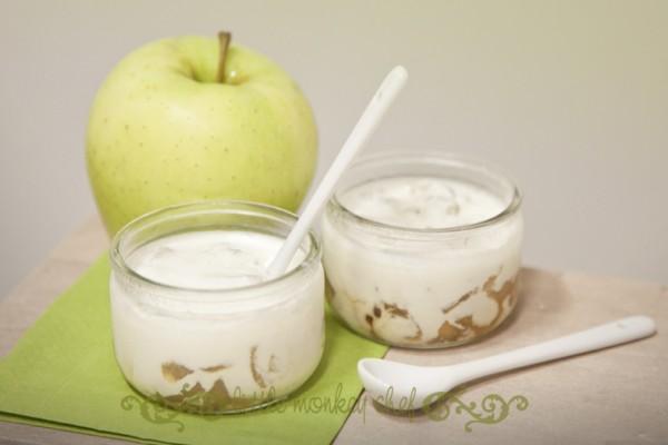 yogur manzana