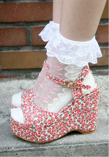 zapatos fresas
