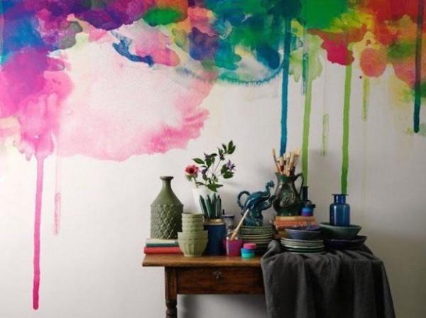 15 creativas ideas para pintar la pared de tu rec mara - Estilos de pintura para paredes ...
