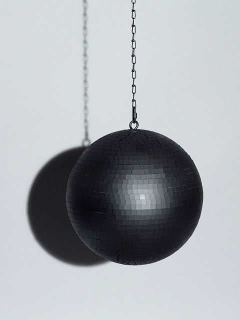 black disco ball