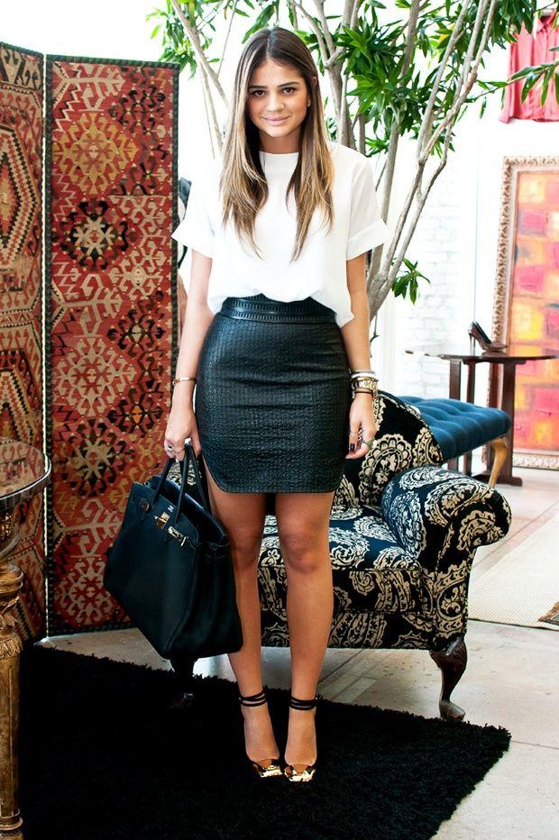 blusa falda