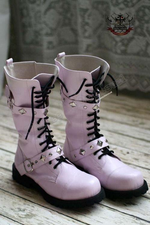 botas goticas rosas
