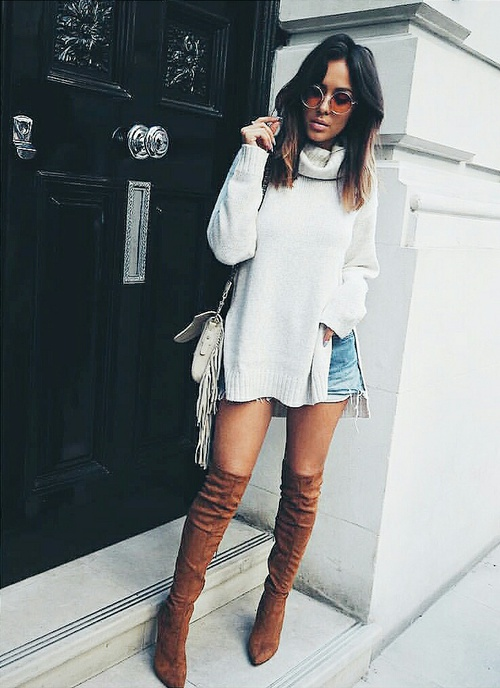 Outfits para aprovechar al máximo tus botas largas