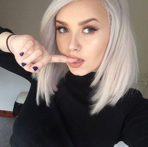 cabello blanco