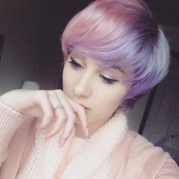 cabello corto bicolor