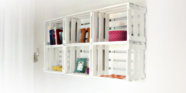 16 creativas maneras de decorar con cajas de madera - Como decorar cajas de madera de fruta ...