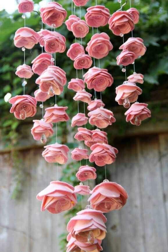 colgante rosas