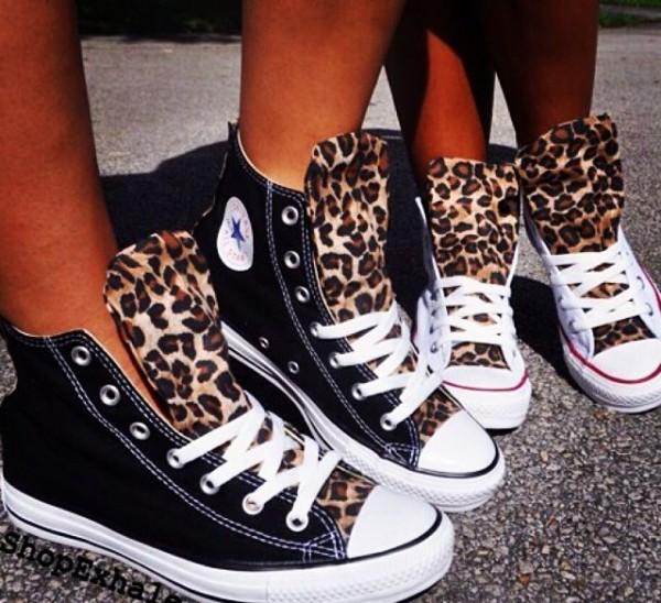 Converse Baby Shoes Leopard