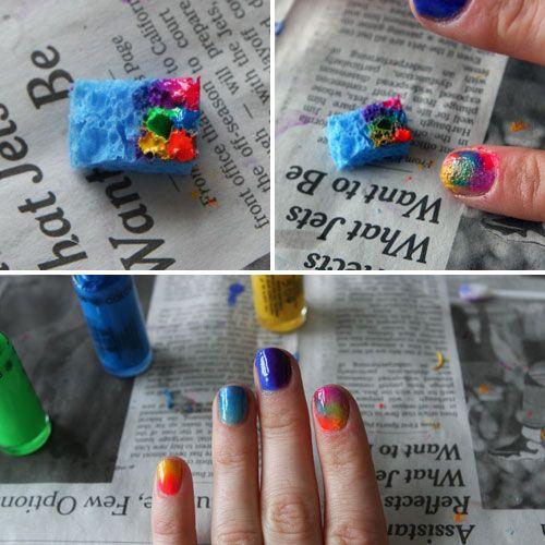 esponja en uñas