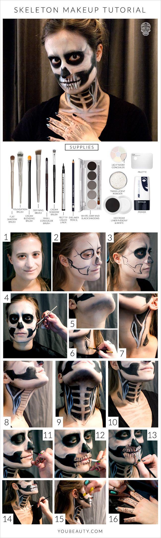 esuqeleto maquillaje
