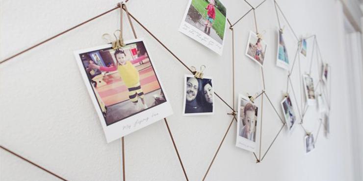 20 ideas que te inspirar n para poner fotos en tu pared - Ideas originales con fotos ...