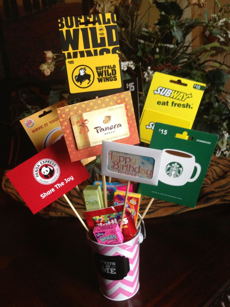 giftcard bouquet