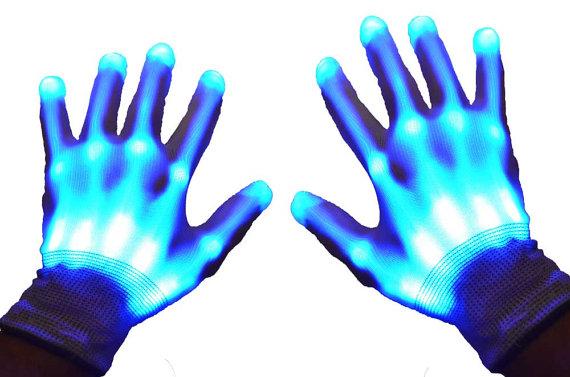 guantes luminosos