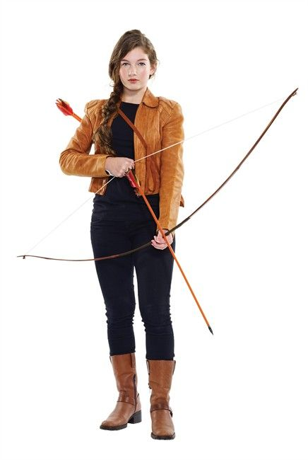 "A model dresses as Katniss from ""The Hunger Games"" in this undated handout photo. THE CANADIAN PRESS/HO - Value Village"