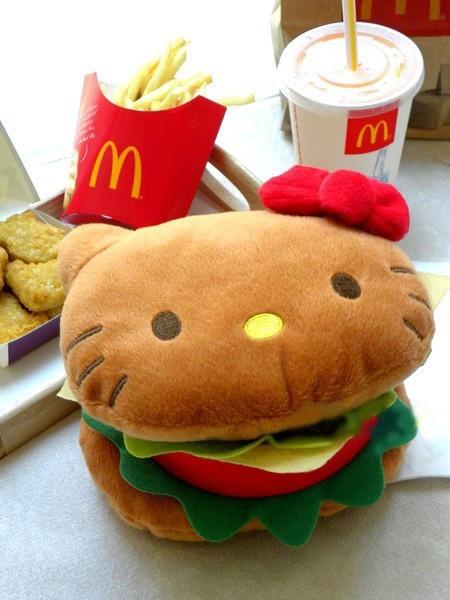 kitty hamburguesa