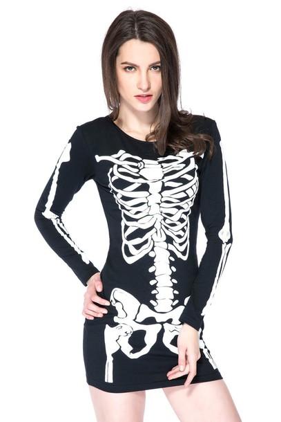 maykook skeleton dress
