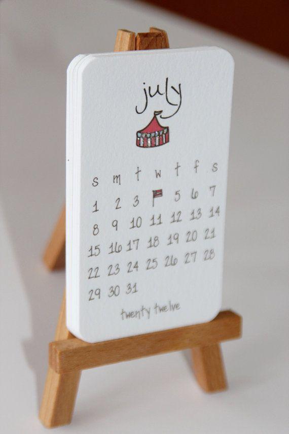 mini calendario