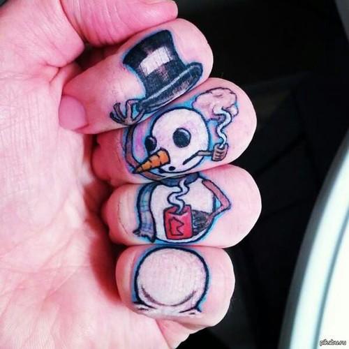 muñeco nieve tatuaje