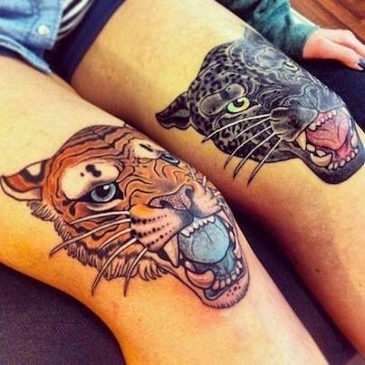 rodillas tatuadas