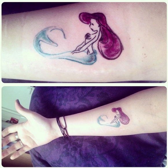 sirenita tatuaje