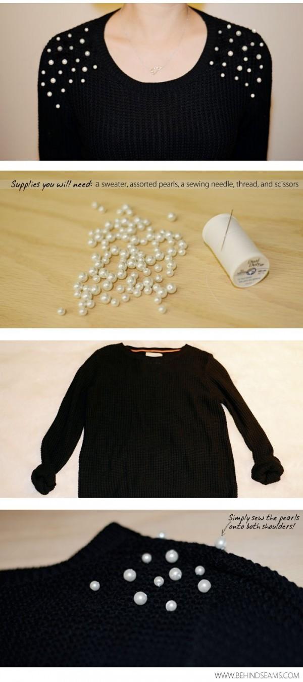 sueter perlas