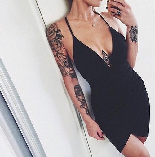 tatuadas vestidos