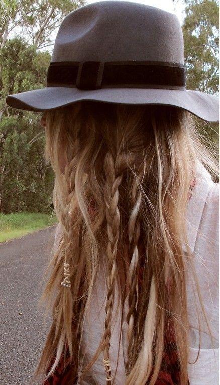 trenzas sombrero