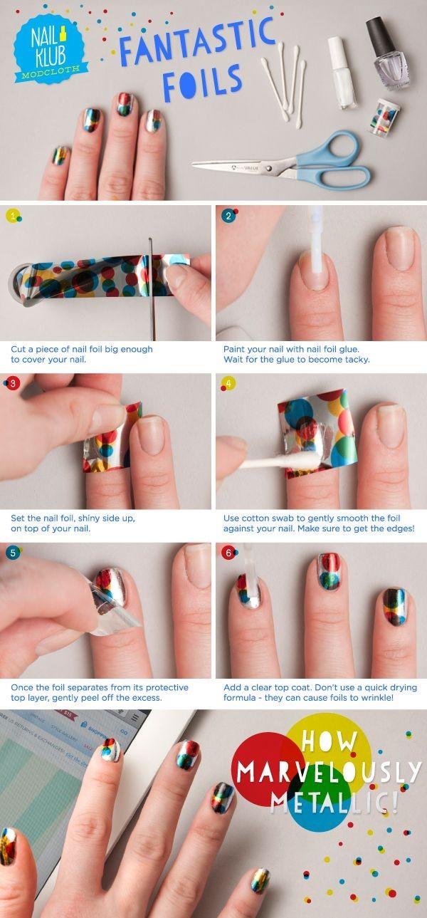 9 Increibles tips para usar papeles metálicos en tus uñas