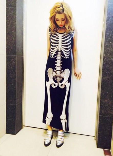vestido de esqueleto