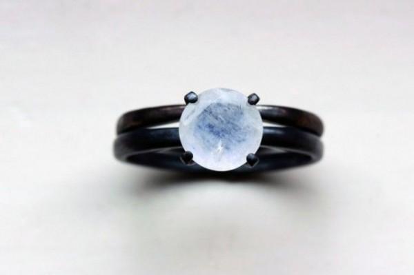 anillo compromiso negro