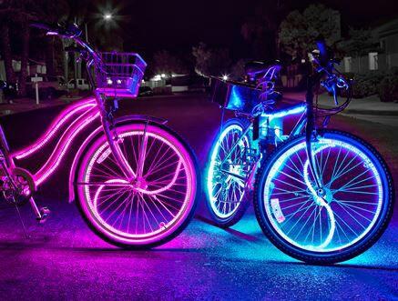 bicicleta neon