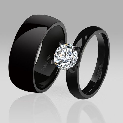 black wedding rings for her anillos de compromiso negros para chicas con buen gusto 1882