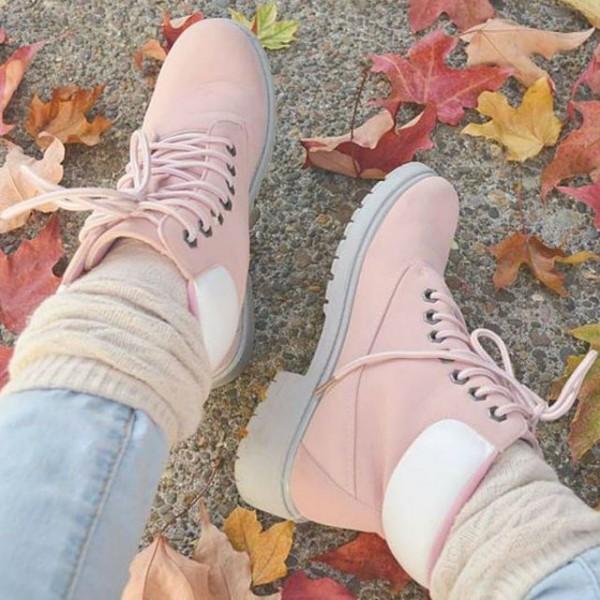 botas rosas calentadores