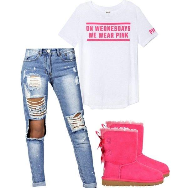 botas rosas jeans