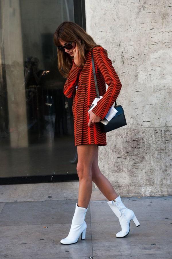 botas tobillo blancas