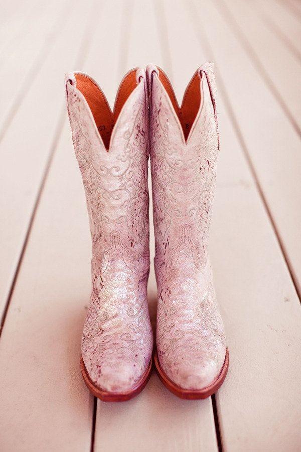 botas vaqueras rosas