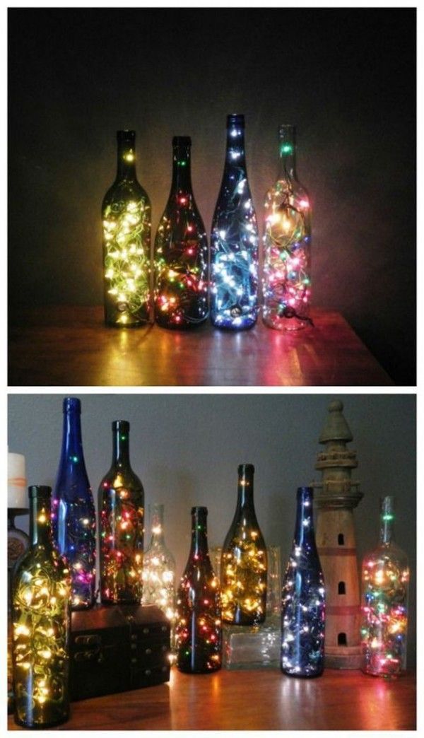 botellas navideas