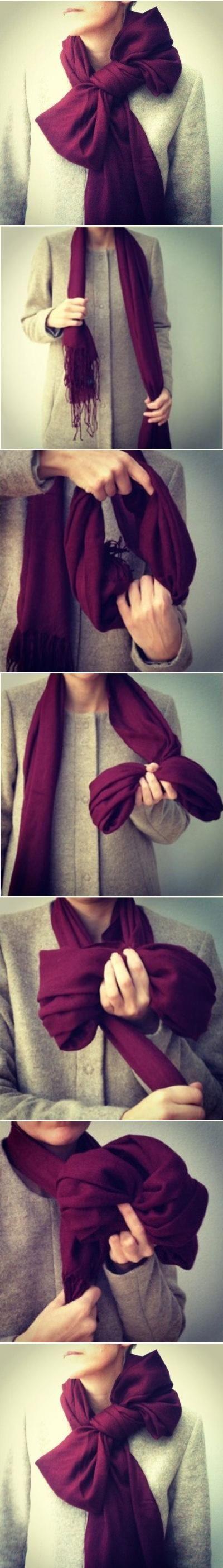 bufanda moño