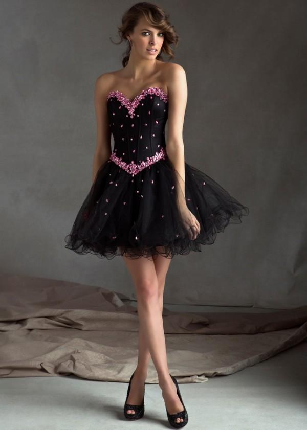 Vestidos de noche elegantes cortos para jovenes