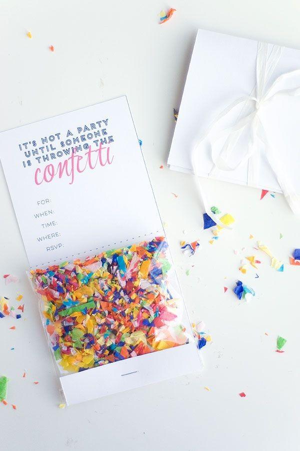 confeti invitacion