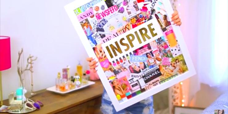 15 cuadros s per chic y f ciles de hacer para decorar tu for Como hacer cosas para tu cuarto