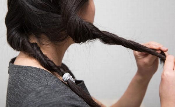 enrolla cabello