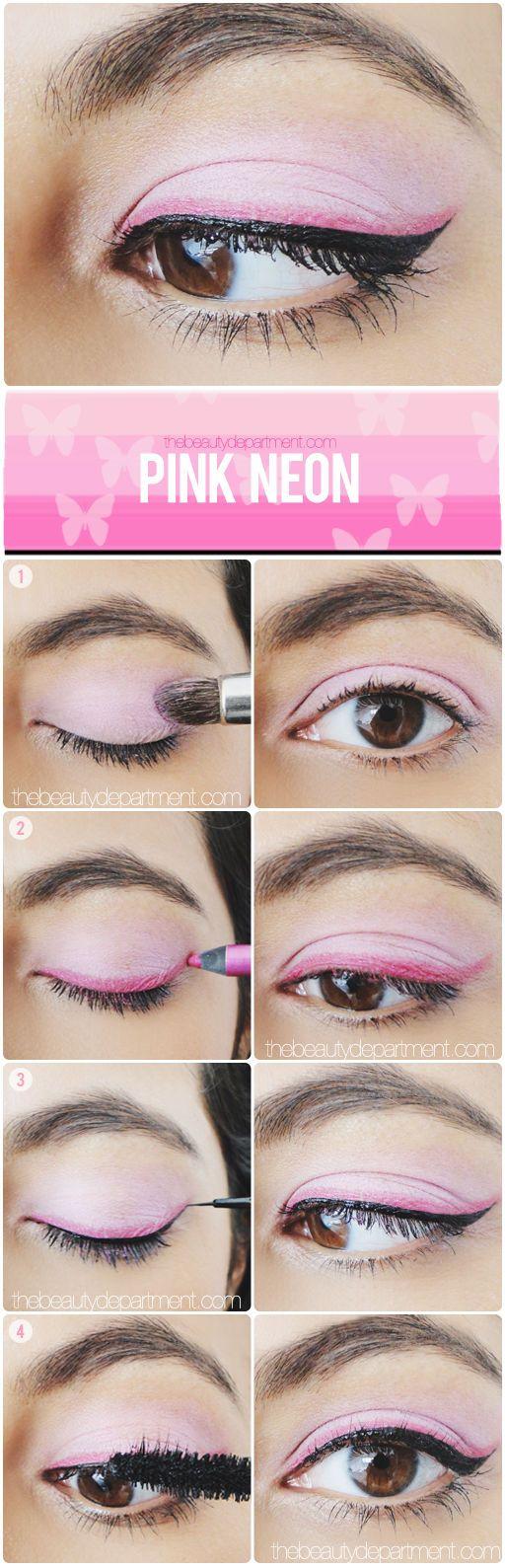 eyeliner pink