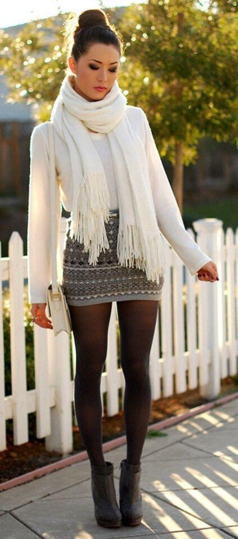 falda y medias