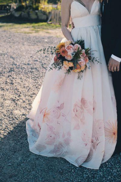 flores vestido novia