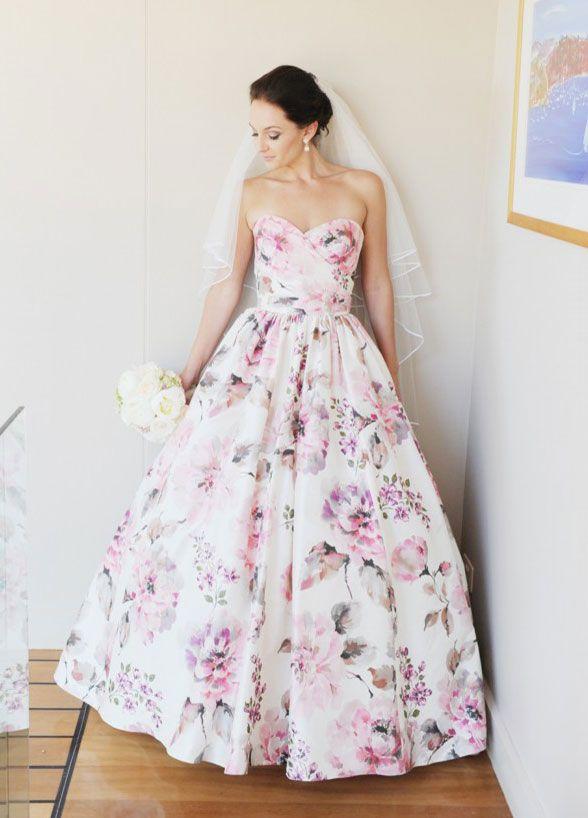 flores vestido -novia