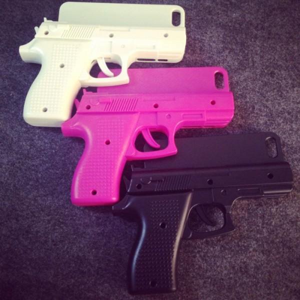 funda celular pistola