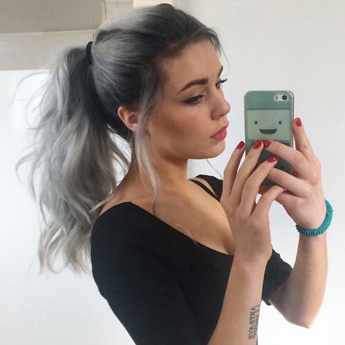 gris cabello increible