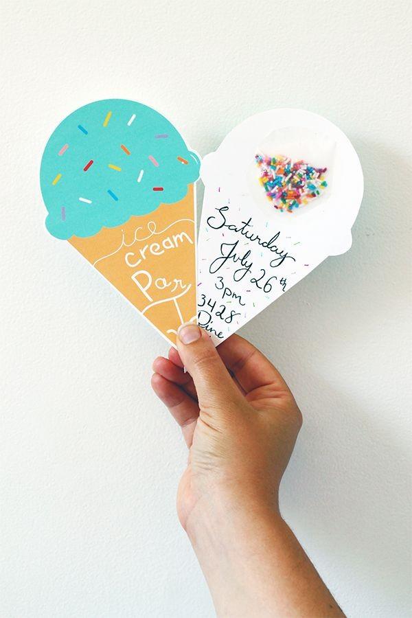 icecream invitation