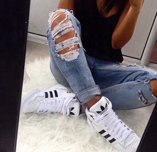 jeans rotos adidas